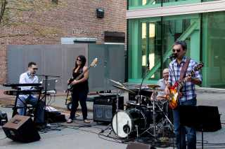 The Curtis Hawkins Band on the RME Courtyard