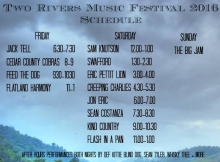 Two Rivers Music Festival Schedule